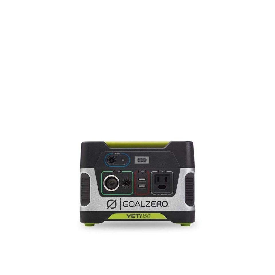 """<p><strong>Goal Zero</strong></p><p>goalzero.com</p><p><strong>$199.95</strong></p><p><a href=""""https://go.redirectingat.com?id=74968X1596630&url=https%3A%2F%2Fwww.goalzero.com%2Fshop%2Flast-chance-gear%2Fgoal-zero-yeti-150-portable-power-station&sref=https%3A%2F%2Fwww.thepioneerwoman.com%2Fholidays-celebrations%2Fgifts%2Fg36212544%2Fgifts-for-dad-from-daughter%2F"""" rel=""""nofollow noopener"""" target=""""_blank"""" data-ylk=""""slk:Shop Now"""" class=""""link rapid-noclick-resp"""">Shop Now</a></p><p>No need for outlets here! With this portable power station, he'll be set for all of his outdoor charging needs: It comes with USB ports, an AC outlet, and a 12V output. </p>"""