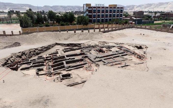 """The remains of what may be the world's """"oldest"""" high-production beer brewery - Egyptian Ministry of Antiquities/AFP via Getty Images"""