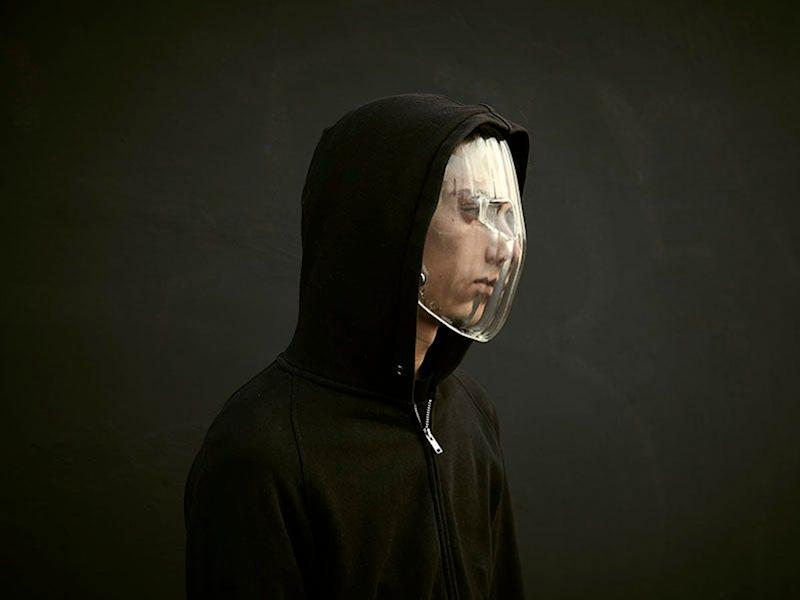 dazzle facemask designed to thwart facial recognition