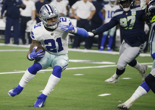 Dallas Cowboys running back Ezekiel Elliott met with NFL commissioner Roger Goodell on Tuesday. (AP Photo/Michael Ainsworth)