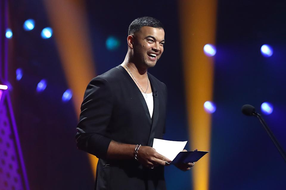Guy Sebastian presents the ARIA Award for Best Australian Live Act during the 2020 ARIA Awards