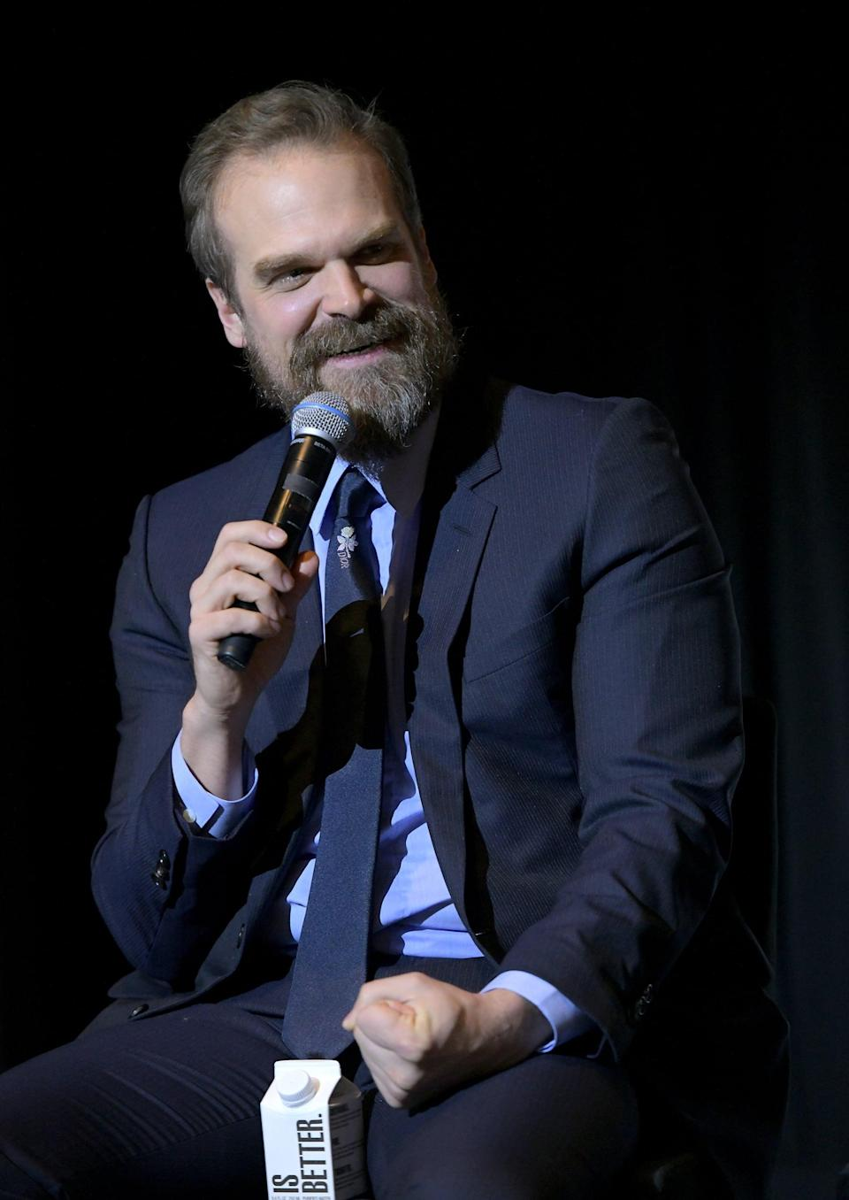 <p>Harbour will return as the grumpy but lovable sheriff Hopper, who's a prisoner in Russia despite being seemingly sucked into a dimensional wormhole at the end of season three.</p>