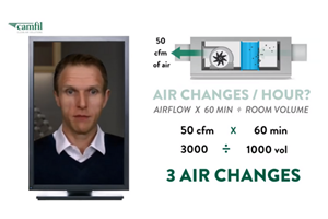 In a new video, Camfil air filtration expert Matthew Crouch answers a common query: how do you know how many air purifiers you need and how large?