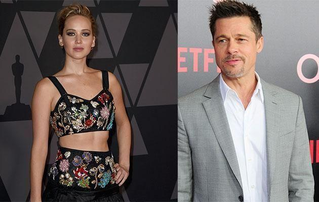 Jennifer Lawrence and Brad Pitt are both hot property in Hollywood with both being single. Source: Getty