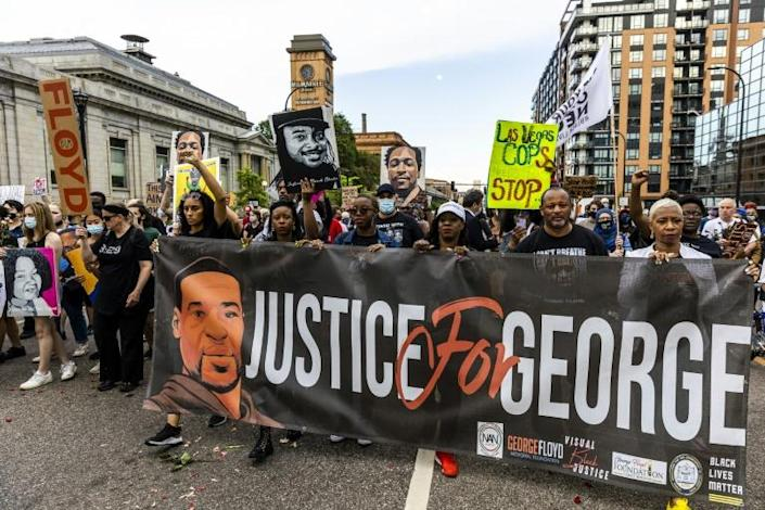 The killing of George Floyd by a white policeman a year ago has prompted a reckoning on racial injustice in the United States