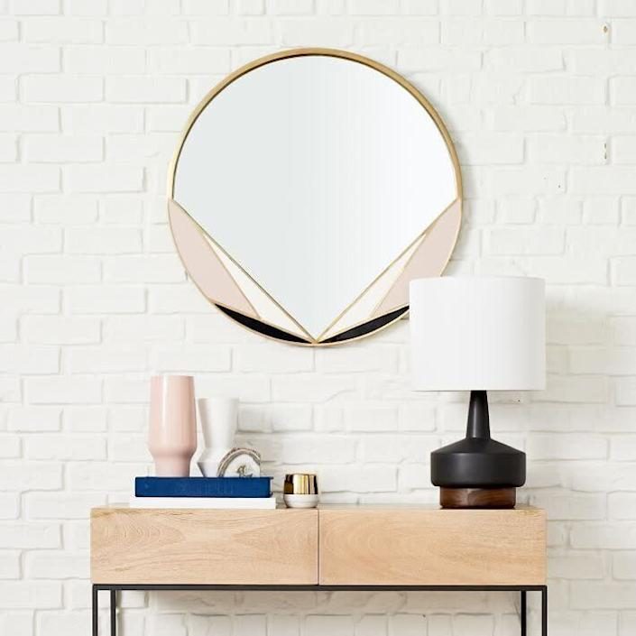 "While you might think of <a href=""https://fave.co/2zV7dgr"" rel=""nofollow noopener"" target=""_blank"" data-ylk=""slk:West Elm"" class=""link rapid-noclick-resp"">West Elm</a> as more modern and minimalist, the company carries everything from <a href=""https://fave.co/3cqAXky"" rel=""nofollow noopener"" target=""_blank"" data-ylk=""slk:industrial bookshelves"" class=""link rapid-noclick-resp"">industrial bookshelves</a> to <a href=""https://fave.co/3mHwSxf"" rel=""nofollow noopener"" target=""_blank"" data-ylk=""slk:classic cafe dining chairs"" class=""link rapid-noclick-resp"">classic cafe dining chairs</a>. It's actually owned by <a href=""https://fave.co/2Ztuph3"" rel=""nofollow noopener"" target=""_blank"" data-ylk=""slk:Williams-Sonoma"" class=""link rapid-noclick-resp"">Williams-Sonoma</a>, which also owns <a href=""https://fave.co/3cncBbg"" rel=""nofollow noopener"" target=""_blank"" data-ylk=""slk:Pottery Barn"" class=""link rapid-noclick-resp"">Pottery Barn</a> and vintage online store <a href=""https://fave.co/362DwZ4"" rel=""nofollow noopener"" target=""_blank"" data-ylk=""slk:Rejuvenation"" class=""link rapid-noclick-resp"">Rejuvenation</a>. You'll find art deco furniture and decor on the site as well. Among our favorites are this <br><a href=""https://fave.co/2HeDbb5"" rel=""nofollow noopener"" target=""_blank"" data-ylk=""slk:enamel and brass mirror"" class=""link rapid-noclick-resp"">enamel and brass mirror</a>, <a href=""https://fave.co/3iUg2sp"" rel=""nofollow noopener"" target=""_blank"" data-ylk=""slk:marble deco clock"" class=""link rapid-noclick-resp"">marble deco clock</a> and <a href=""https://fave.co/33M0vo8"" rel=""nofollow noopener"" target=""_blank"" data-ylk=""slk:circular metal shelf"" class=""link rapid-noclick-resp"">circular metal shelf</a> that looks like it comes right from the '20s. <br><br><a href=""https://fave.co/3kGf1Vr"" rel=""nofollow noopener"" target=""_blank"" data-ylk=""slk:Check out West Elm"" class=""link rapid-noclick-resp"">Check out West Elm</a>."