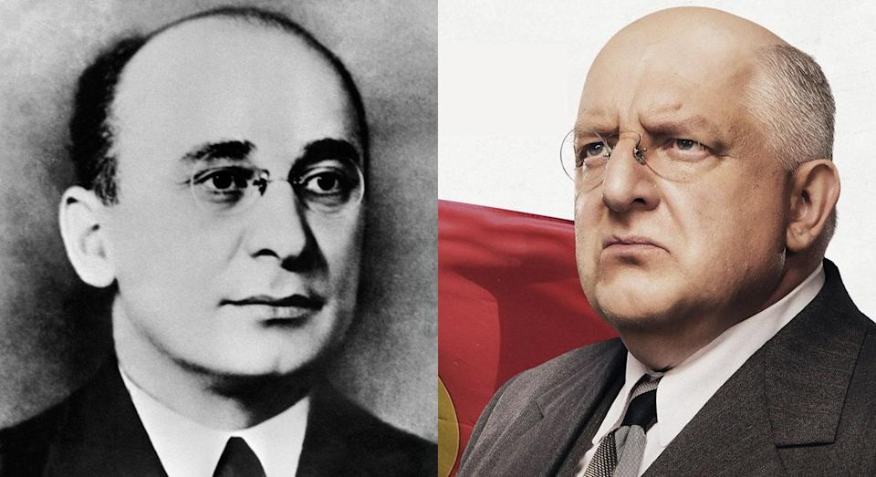 Simon Russell Beale is Soviet politician Lavrentiy Beria in 'The Death of Stalin' (Getty/eOne)
