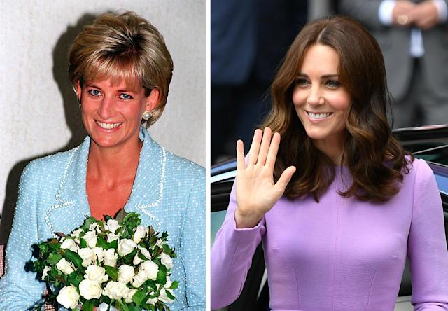 The Duchess of Cambridge has worn a lot of Diana's jewels. (Photo: PA)