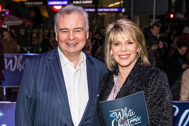 Husband and wife TV presenting team Eamonn Holmes and Ruth Langsford live and work together. (PA)