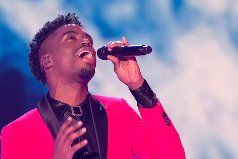 Champion: Harris has seen success with his winner's single Power of Love (X Factor/ ITV)