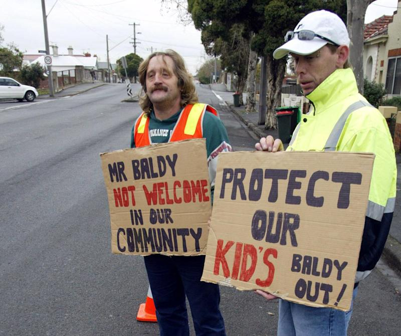 Registrants and their families are often subject to protests and abuse after they move into a new neighborhood.  (Photo: The AGE via Getty Images)
