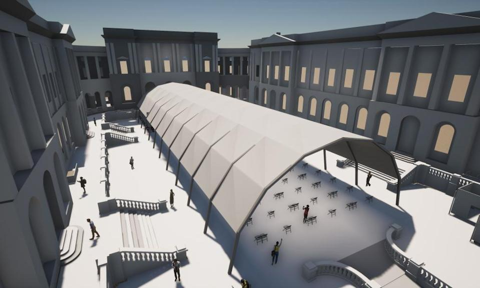 An artist's impression of the planned pavilion at Old College Quad.