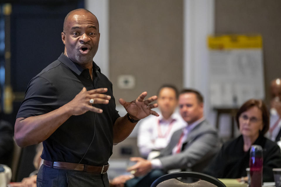 NFLPA executive director DeMaurice Smith sent an email to players on Thursday updating CBA negotiations. (Christy Radecic/AP Images)