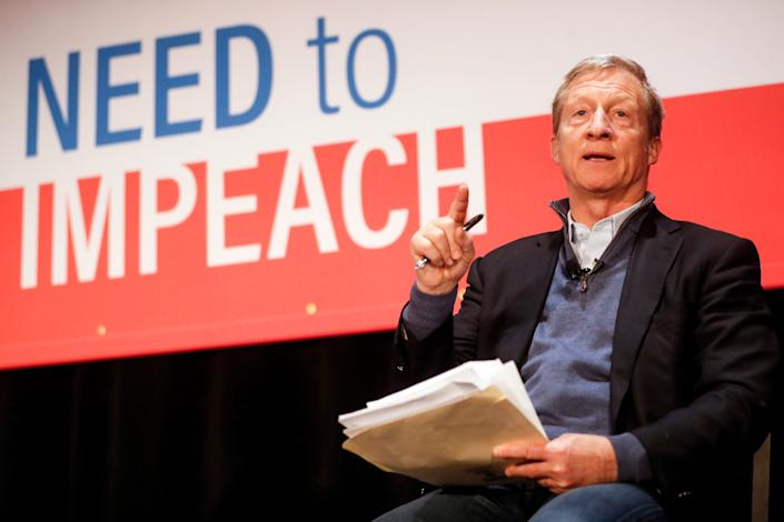Billionaire Tom Steyer plans to spend as much as $90 million to advocate for Trump's impeachment. (Photo: ASSOCIATED PRESS)