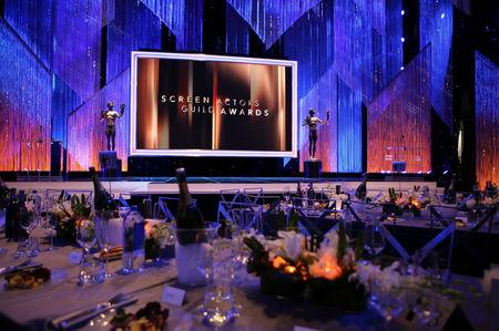 FILE PHOTO: Interior of the Shrine Auditorium is viewed prior to the 23rd Screen Actors Guild Awards in Los Angeles, California, U.S. January 29, 2017.   REUTERS/Mike Blake/File Photo
