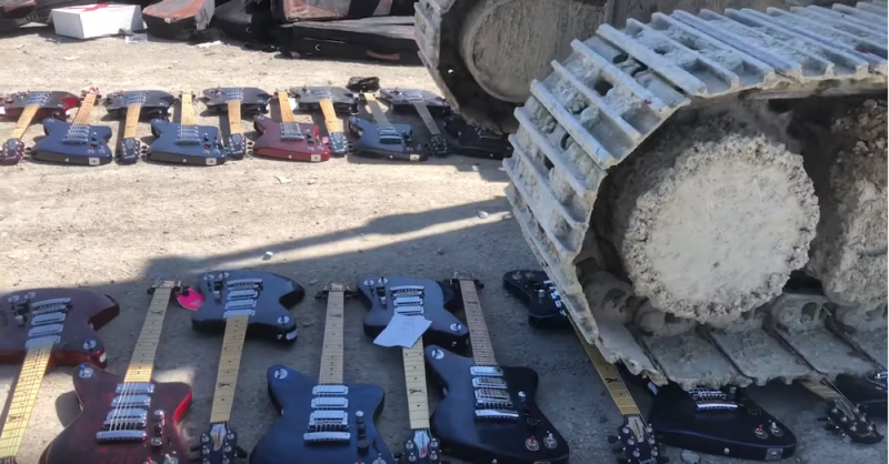 Leaked video shows Gibson destroying hundreds of their own guitars