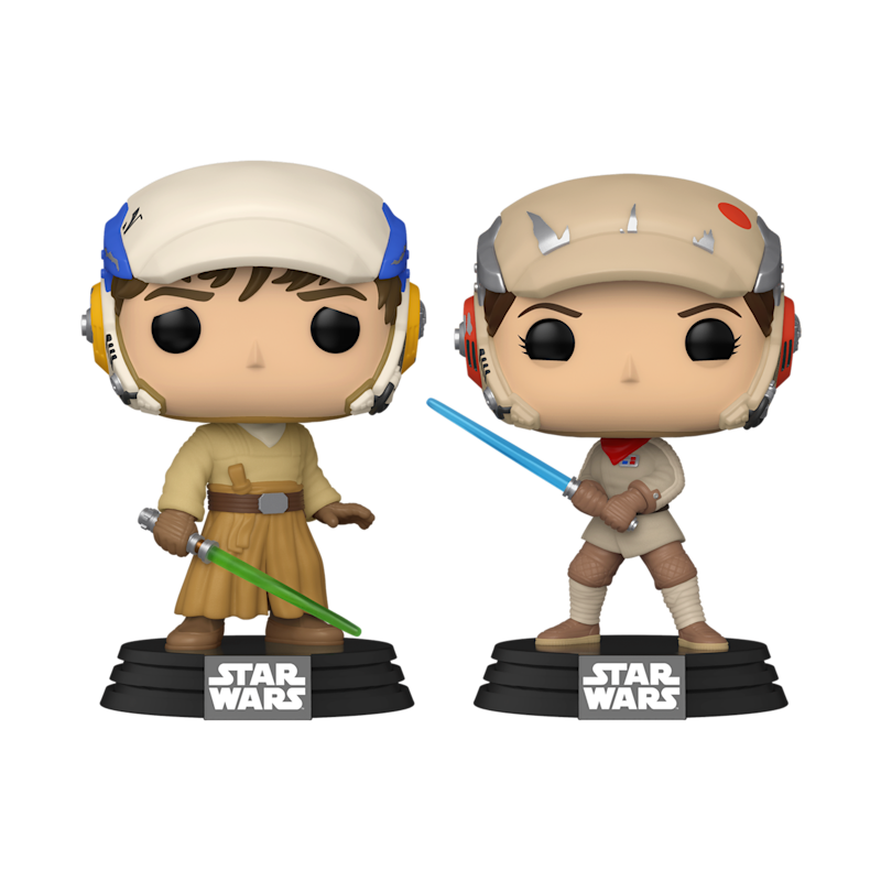 "Luke Skywalker and Princess Leia in their Jedi-training gear from ""The Rise of Skywalker."" (Photo: Funko)"