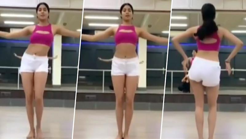 Janhvi Kapoor's Sexy Belly Dance Will Make Your Heart Skip a Beat – Watch Video