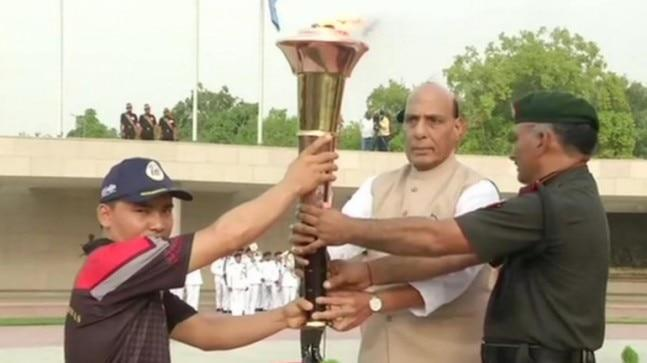 In Drass, the flame will be merged with the eternal flame at the 'Kargil War Memorial'.