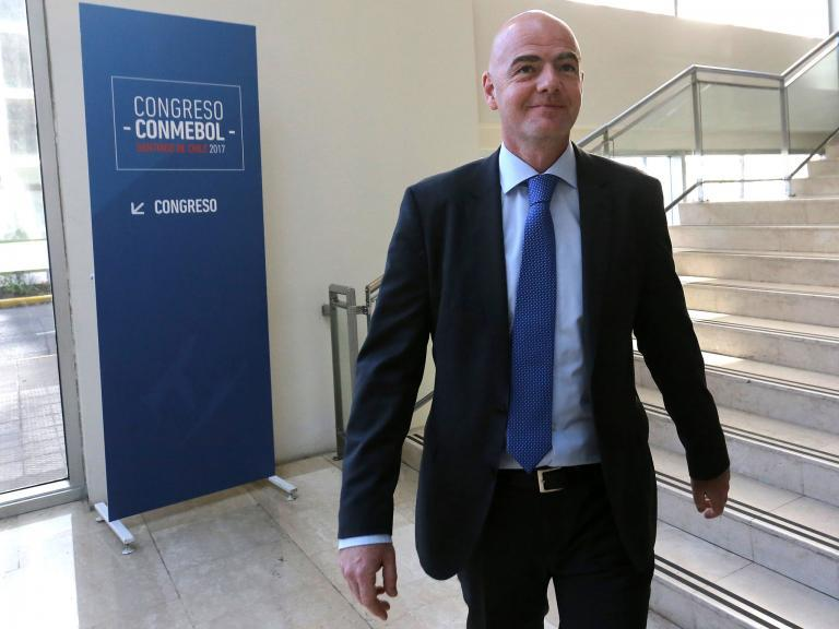 Fifa President Gianni Infantino says video refereeing will be used at 2018 World Cup in Russia
