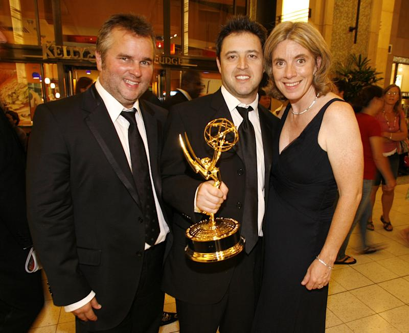 From left: Ed Glavin, Andy Lassner and Mary Connelly. (Photo: Christopher Polk via Getty Images)