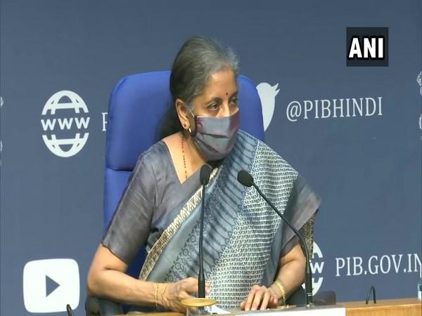 Finance Minister Nirmala Sitharaman speaking to reporters after 42nd meeting of GST Council on Monday in New Delhi.