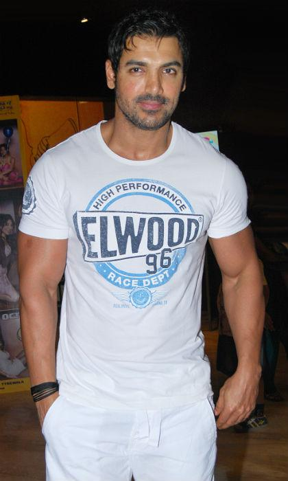 <strong>John Abraham</strong><br /><br />Good looking John Abraham is a staunch vegetarian. A firm believer in the muscle-building and fitness advantages of a vegetarian diet, John gave up meat after seeing new chicken farms outside Mumbai.