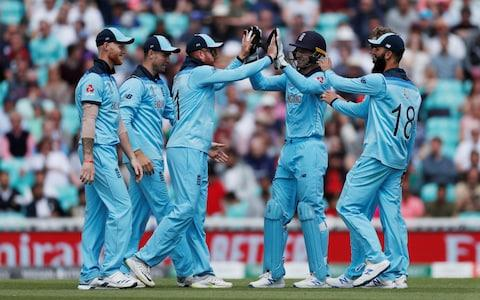 ICC Cricket World Cup warm-up match - England v Afghanistan - Kia Oval, London, Britain - May 27, 2019 England's Jonny Bairstow and team mates celebrate the run out of Afghanistan's Najibullah Zadran - Credit: Action Images