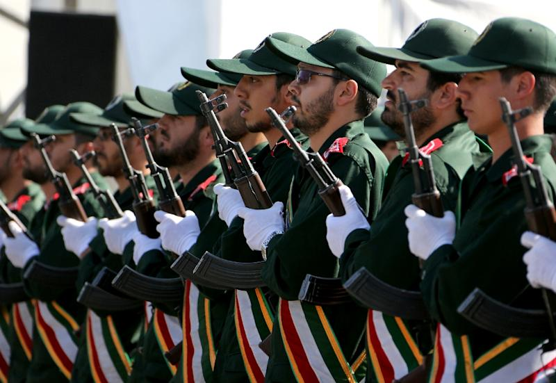 "Iran's Revolutionary Guard said a series of missiles were ""in retaliation"" for the June 7, 2017 attacks on Tehran claimed by IS"