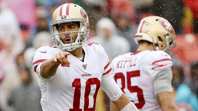 49ers find another way to stay unbeaten: Surviving weather and Redskins