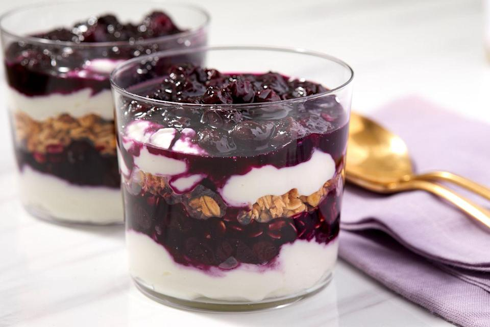 """<p>Breakfast for dessert? Yes indeed. Swap the yogurt for <a href=""""https://www.delish.com/cooking/recipe-ideas/recipes/a1563/classic-crme-anglaise-recipe-8673/"""" rel=""""nofollow noopener"""" target=""""_blank"""" data-ylk=""""slk:custard"""" class=""""link rapid-noclick-resp"""">custard</a>? You betcha.</p><p>Get the recipe from <a href=""""https://www.delish.com/cooking/recipe-ideas/a32292718/parfait-recipe/"""" rel=""""nofollow noopener"""" target=""""_blank"""" data-ylk=""""slk:Delish"""" class=""""link rapid-noclick-resp"""">Delish</a>.</p>"""