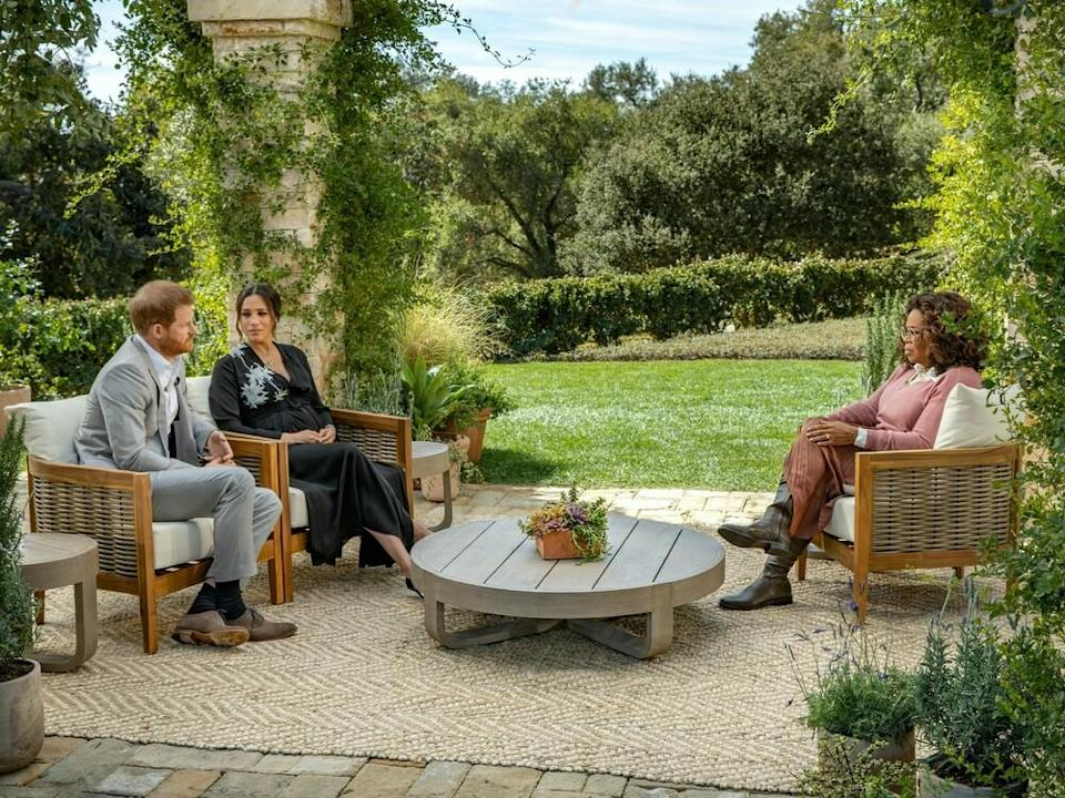 Prinz Harry und Herzogin Meghan im Interview mit Oprah Winfrey (Bild: TVNOW / Harpo Productions - Joe Pugliese)