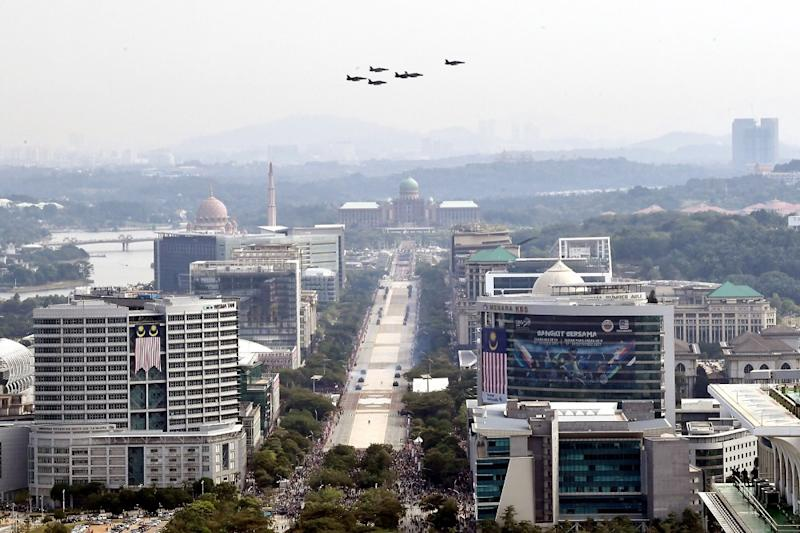 A view of the 3km long road called 'The Boulevard' at Putrajaya. The road cuts through the administrative buildings of Precincts 2 to 4, with Dataran Putra at one end, and the Putrajaya International Convention Centre at the other. — Bernama pic
