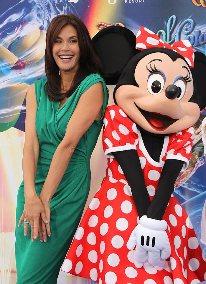 "Teri Hatcher popped a cute pose with Minnie Mouse at the kid-friendly soiree. Michael Tran/<a href=""http://www.filmmagic.com/"" target=""new"">FilmMagic.com</a> - June 10, 2010"
