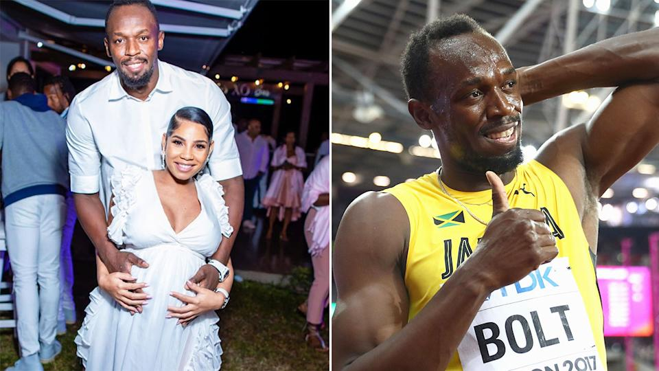 Pictured here, Usain Bolt and partner Kasi Bennett before the birth of their first child.