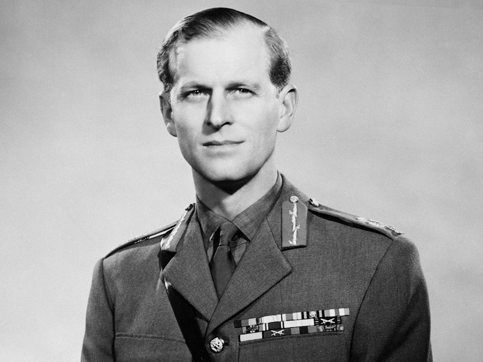 <p>The Duke of Edinburgh in his uniform as a field marshall in the British army, a promotion he received in March 1953</p> (Getty)