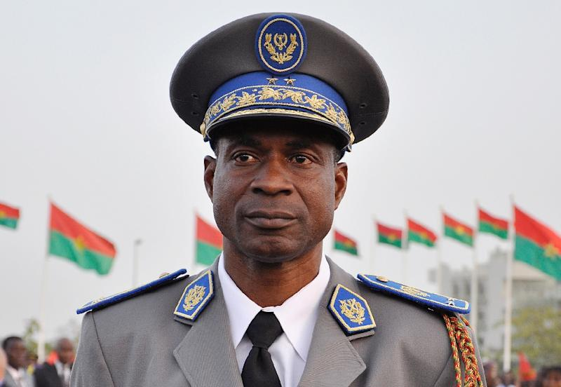 General Gilbert Diendere served largely behind the scenes in Burkina Faso, but was seen as one of the most powerful military officers in the regime that took power in 1987, also by force of arms (AFP Photo/Ahmed Ouoba)