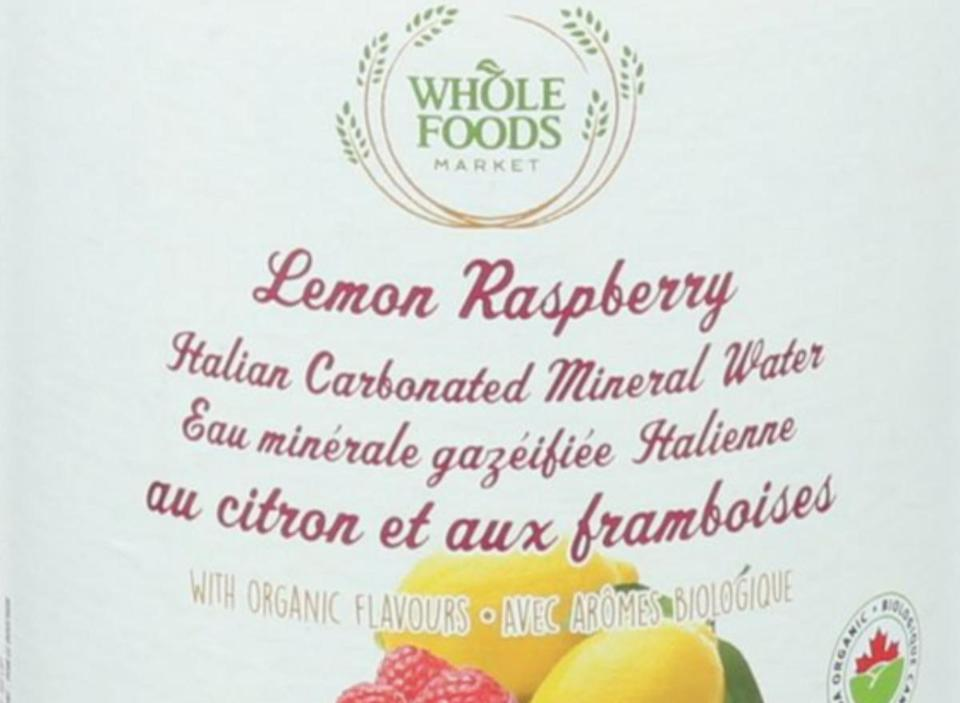 Whole Foods Lemon Raspberry Sparkling Water