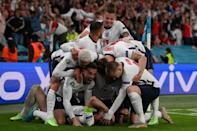 England players celebrate at Euro 2020