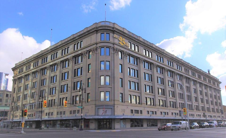 """<span class=""""caption"""">The Bay department store in downtown Winnipeg will close in early 2021.</span> <span class=""""attribution""""><span class=""""source"""">(Jino Distasio)</span>, <span class=""""license"""">Author provided</span></span>"""