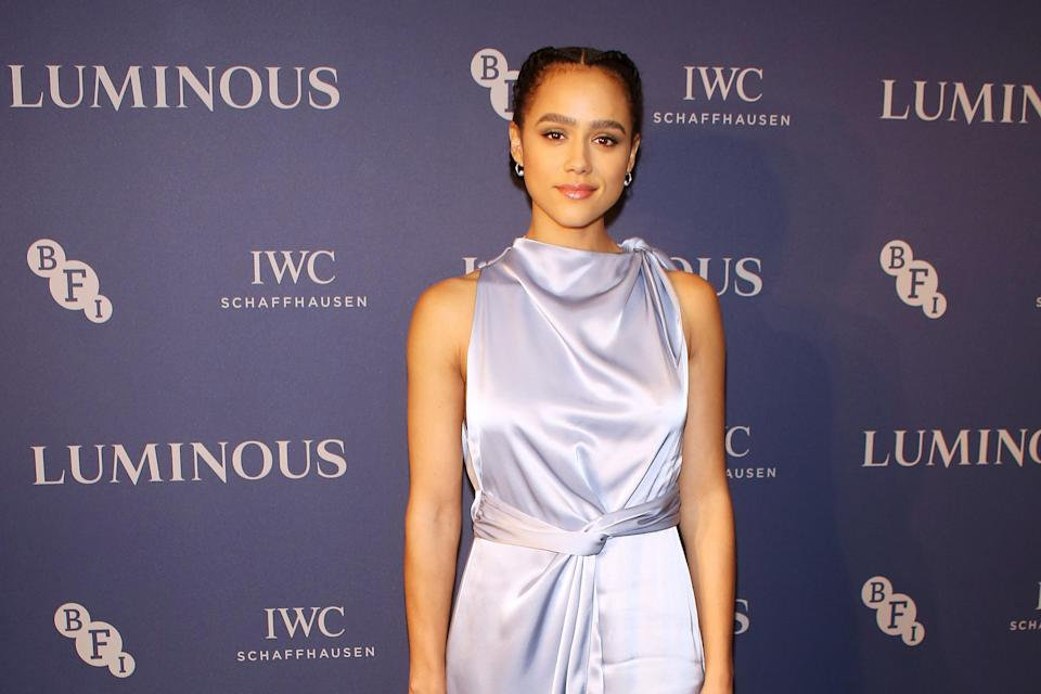 Nathalie Emmanuel attends the BFI & IWC Luminous Gala at The Roundhouse on October 1, 2019, in London, England