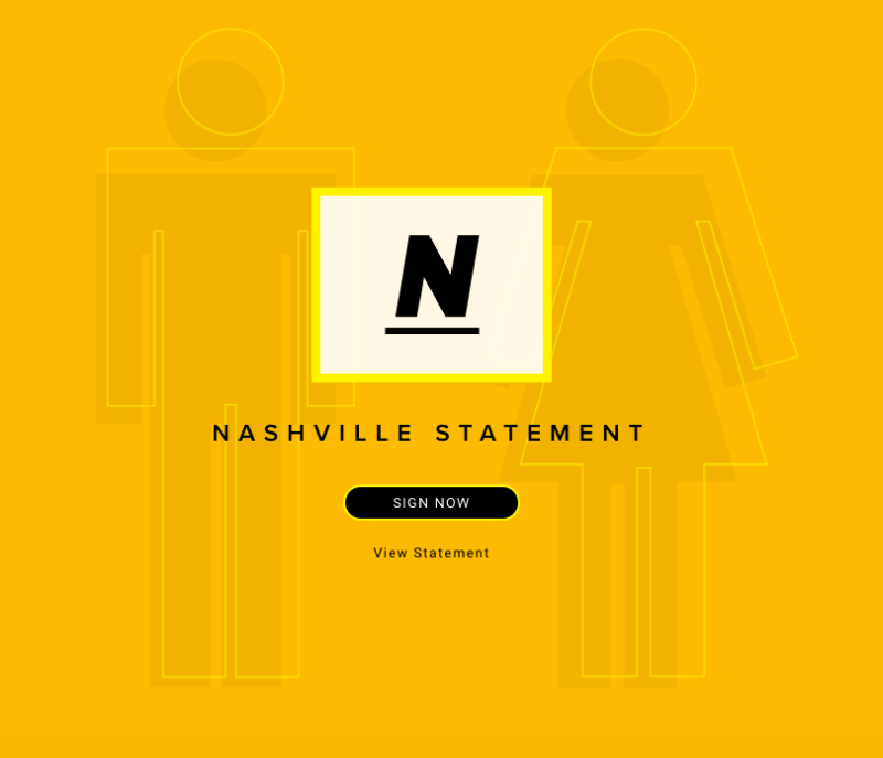 """The """"Nashville Statement"""" consists of 14 affirmations and denials on human sexuality."""