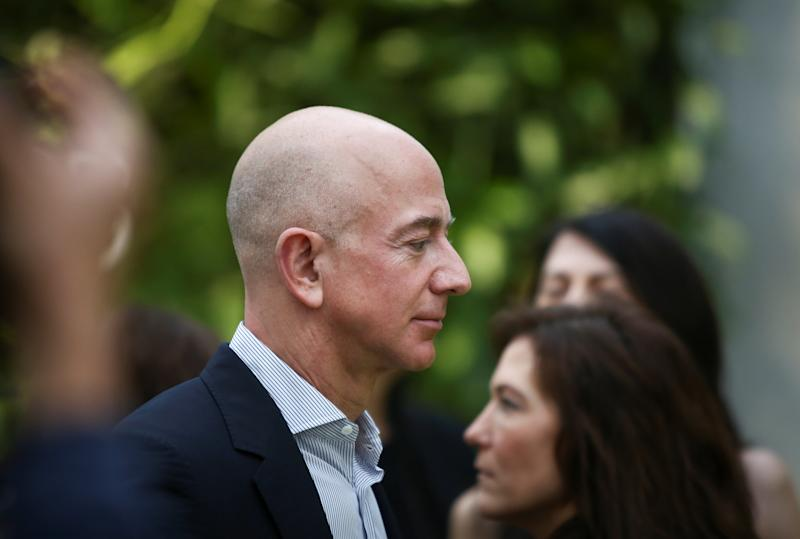 Amazon CEO Jeff Bezos is a favorite target of President Donald Trump's. (Lindsey Wasson / Reuters)