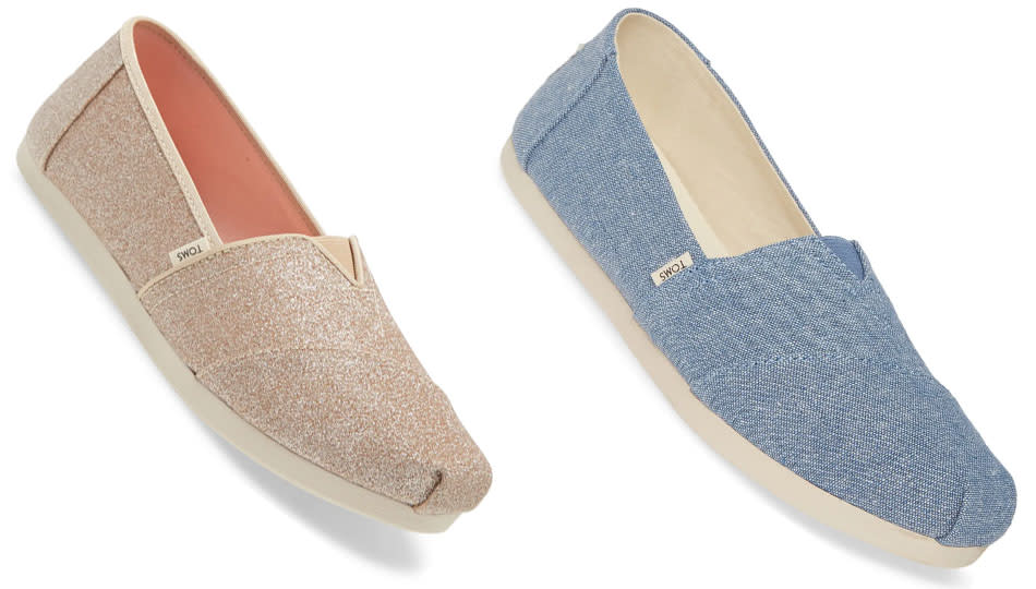 Toms Alpargata Slip-Ons are 40 percent off at Nordstrom's Anniversary Sale. (Photo: Nordstrom)