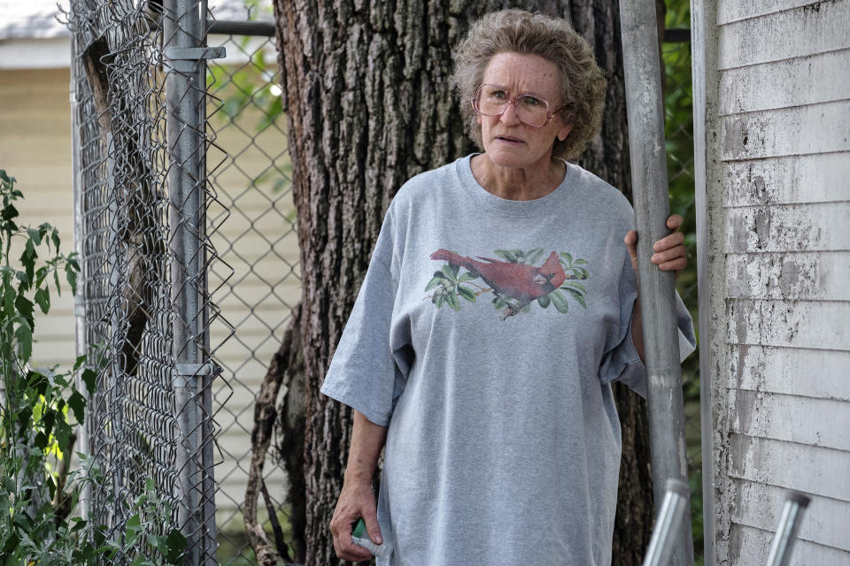 "This image released by Netflix shows Glenn Close in a scene from ""Hillbilly Elegy."" (Lacey Terrell/Netflix via AP)"