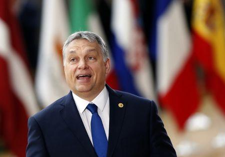 Hungarian Prime Minister Viktor Orban arrives at the EU summit in Brussels