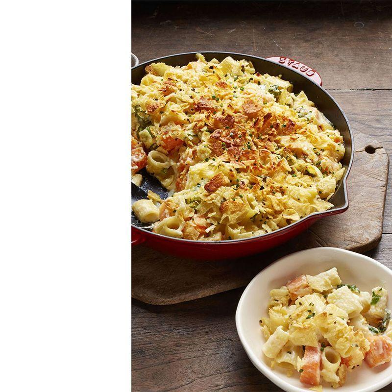 """<p>Made with just one piece of cookware, this rich and creamy skillet dish will be easy to clean up after the party's over.</p><p><a href=""""https://www.womansday.com/food-recipes/recipes/a57897/skillet-mac-and-cheese-recipe/"""" rel=""""nofollow noopener"""" target=""""_blank"""" data-ylk=""""slk:Get the Skillet Mac and Cheese recipe."""" class=""""link rapid-noclick-resp""""><em>Get the Skillet Mac and Cheese recipe.</em></a></p>"""