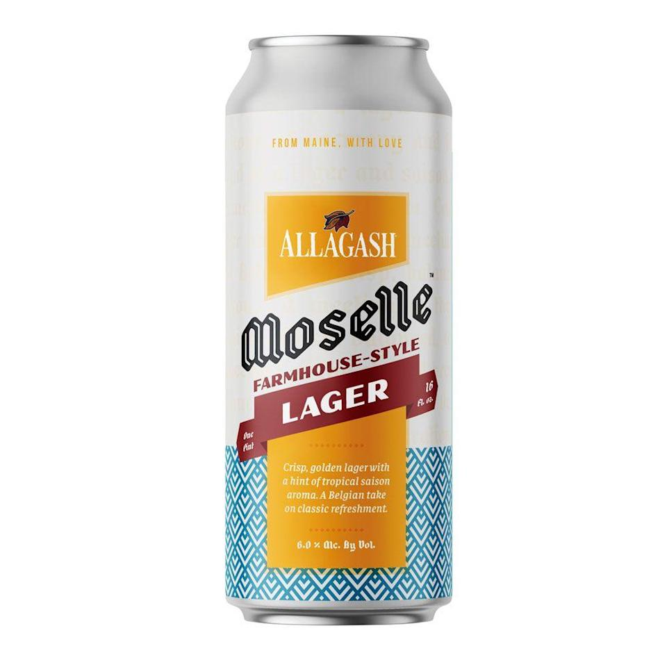 """<p>You've likely had their iconic white ale, which is funkier than most. Same goes for this limited-release, 6 percent ABV lager-saison blend. It's the beer equivalent of an accountant in lederhosen: primarily business, but with a wild side. Pair it with a soft pretzel or a mound of charcuterie.</p><p><a class=""""link rapid-noclick-resp"""" href=""""https://go.redirectingat.com?id=74968X1596630&url=https%3A%2F%2Fdrizly.com%2Fbeer%2Flager%2Fpale-lager%2Famerican-style-lager%2Fallagash-moselle%2Fp103156&sref=https%3A%2F%2Fwww.menshealth.com%2Fnutrition%2Fg34128433%2Fbest-oktoberfest-beers%2F"""" rel=""""nofollow noopener"""" target=""""_blank"""" data-ylk=""""slk:DRINK SOME"""">DRINK SOME</a></p>"""