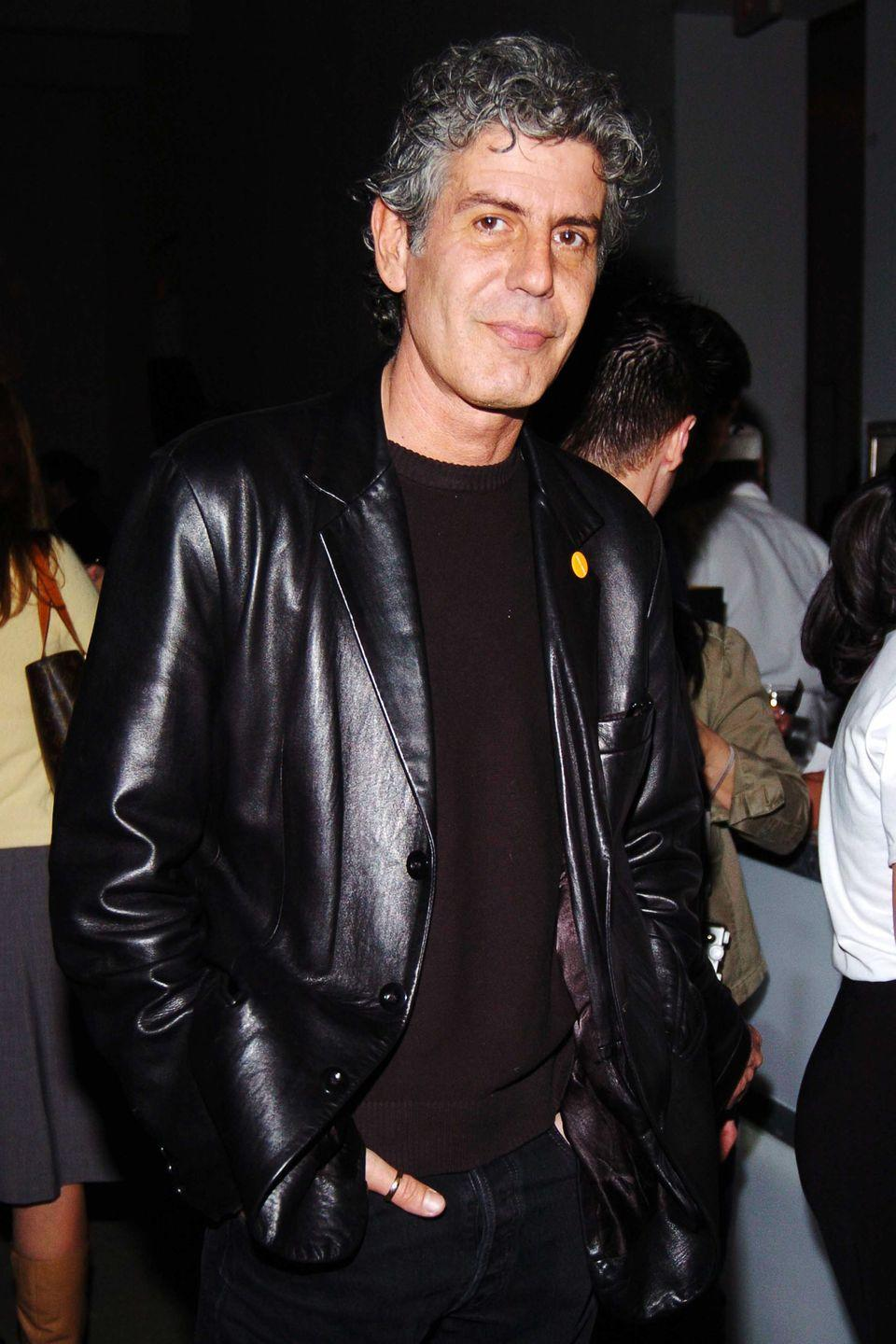 <p> Bourdain at the <em>Food & Wine</em> event on March 29, 2005.</p>