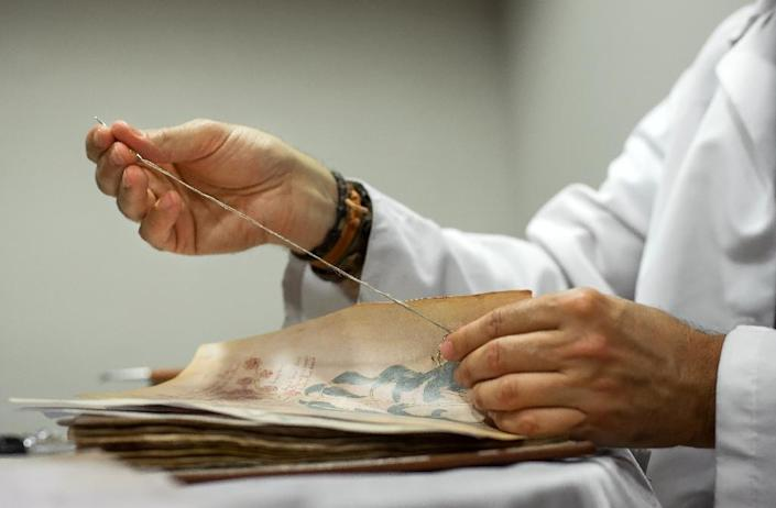 """Scores have tried to decode the Voynich, including top cryptologists such as William Friedman who helped break Japan's """"Purple"""" cipher during World War II (AFP Photo/Cesar Manso)"""
